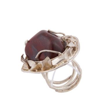 anello argento con diaspro