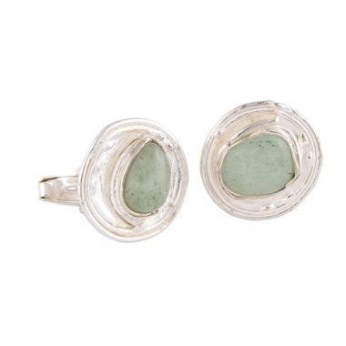 gemelli in argento con pietre dure