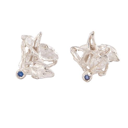 gemelli in argento e zaffiri