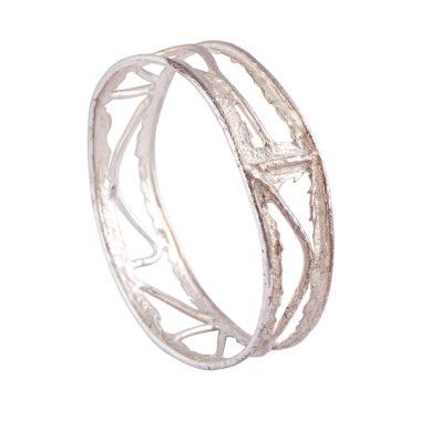 bracciale rigido in argento chiuso