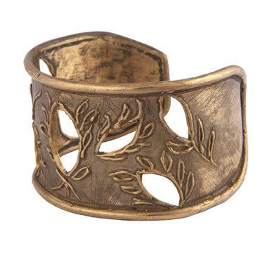 bracciale rigido in bronzo aperto