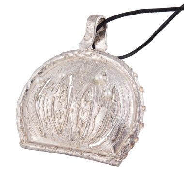 ciondolo in argento a forma conchiglia