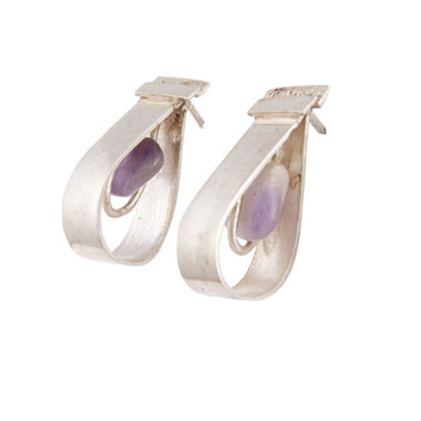 orecchini in argento a goccia con ametiste