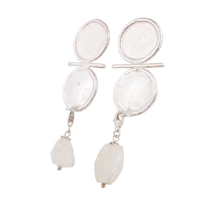 orecchini in argento con chiaro di luna