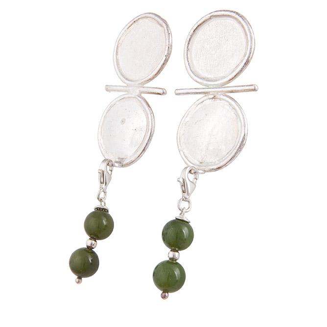 orecchini in argento con giada