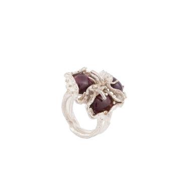 anello in argento con tormalina